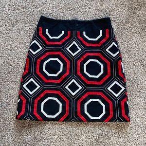 Ann Taylor geometric pencil skirt